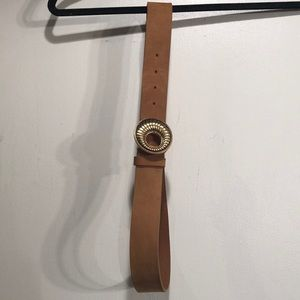 Chico's Tan Belt with gold color buckle